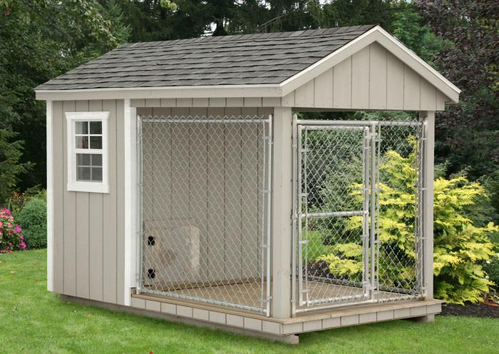 Md sheds gazebos port reading woodbridge township for Dog kennel shed combo plans